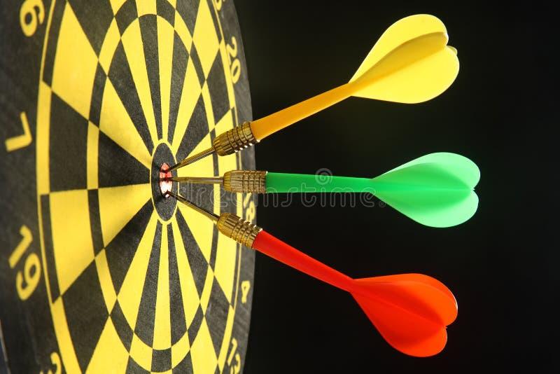 Download Three colorful darts. stock photo. Image of bullseye, three - 3333940