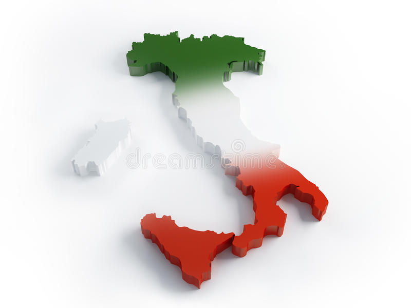 Download Three colors Italy stock illustration. Illustration of travel - 18480512