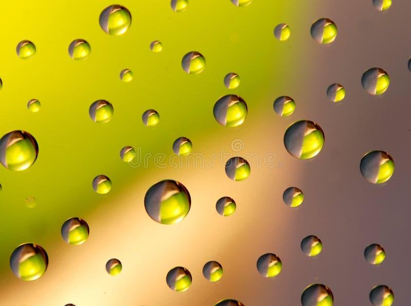 Three-coloured drops royalty free stock image