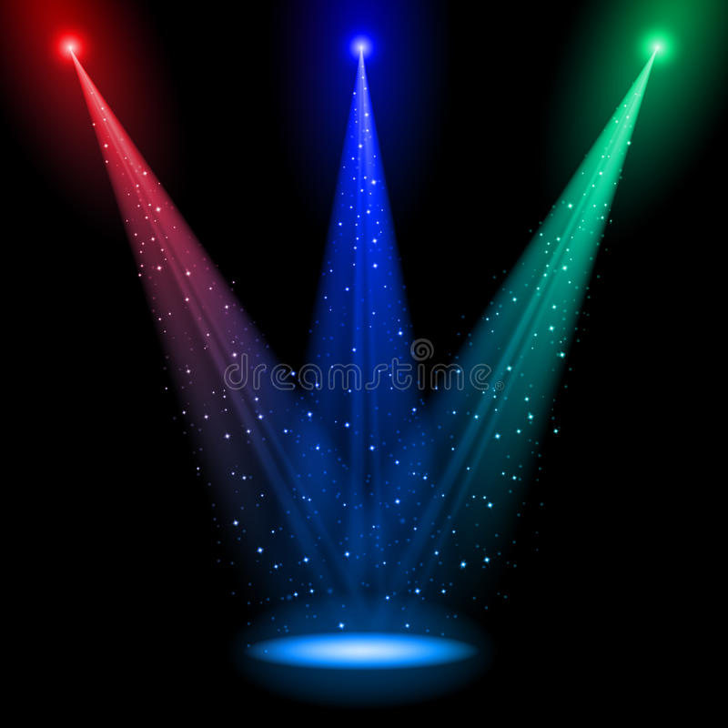 Download Three Conical RGB Shafts Of Light Stock Vector - Image: 21743135