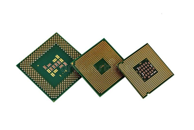 Three Cpu Stock Image