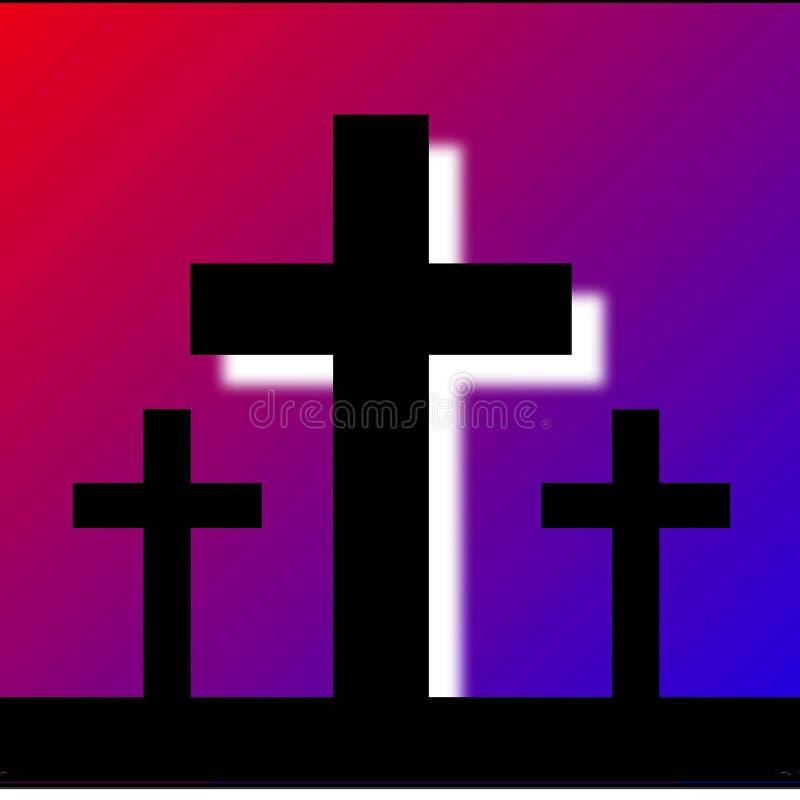 Download Three crosses stock illustration. Image of religion, crosses - 4193988