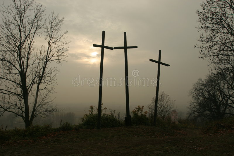 Three crosses. On the hill