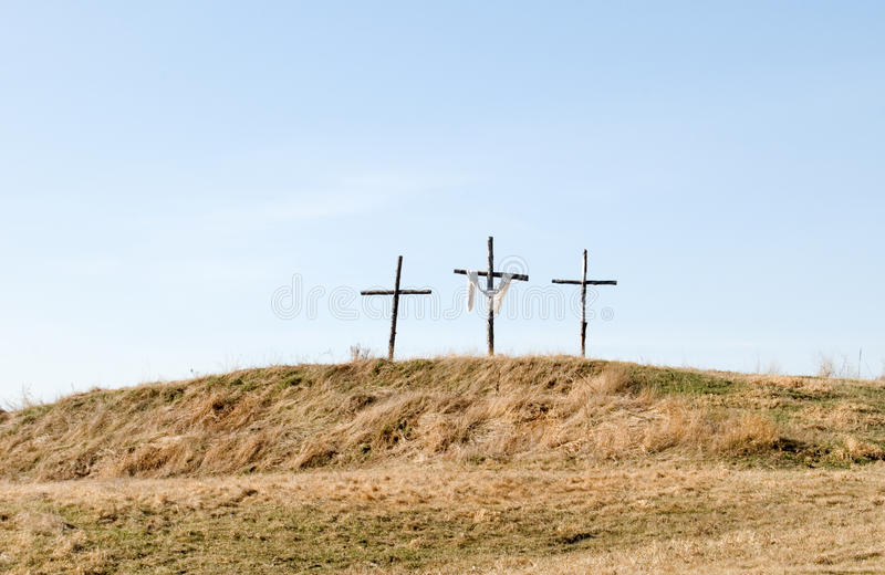 Download Three crosses stock image. Image of christianity, hilltop - 9371077