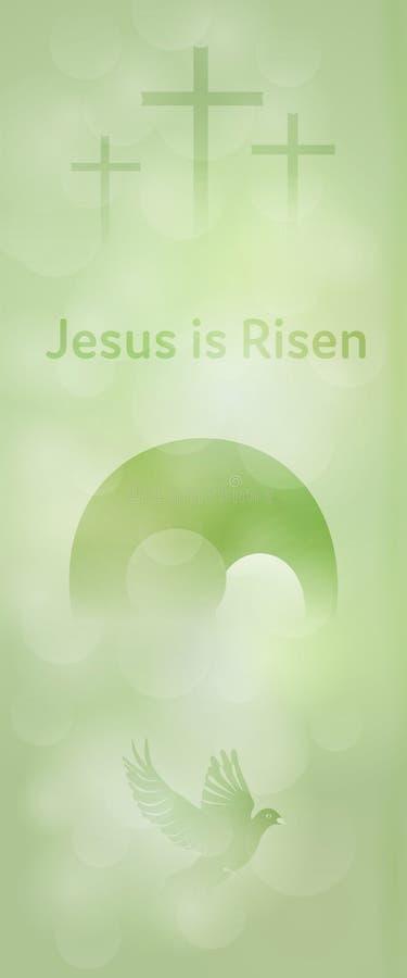 Easter background - Jesus is Risen vector illustration