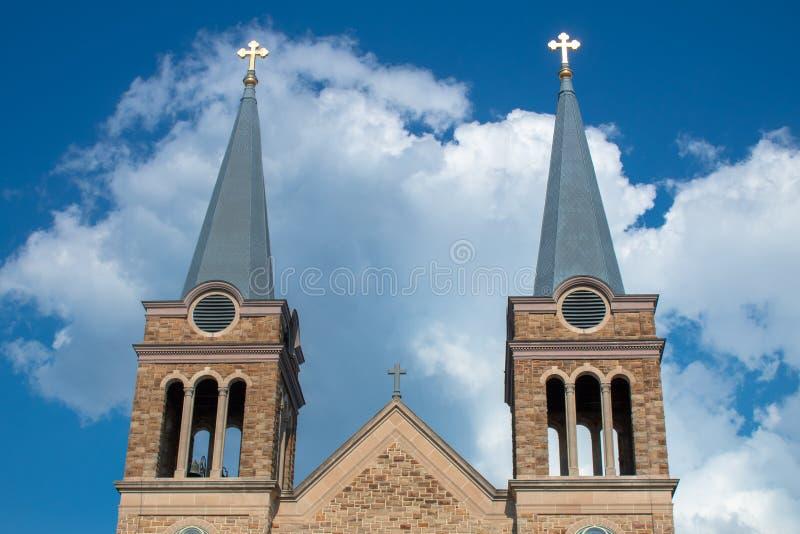 Three Crosses of the Holy Trinity stock image