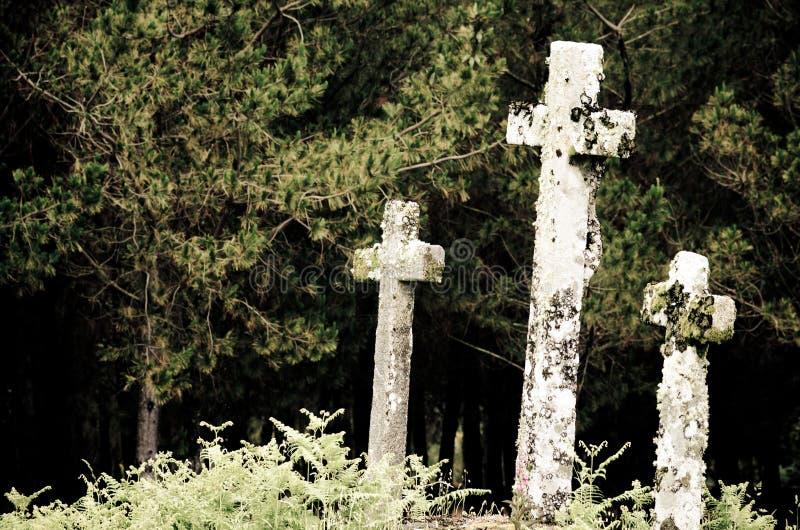 Three Crosses royalty free stock photography