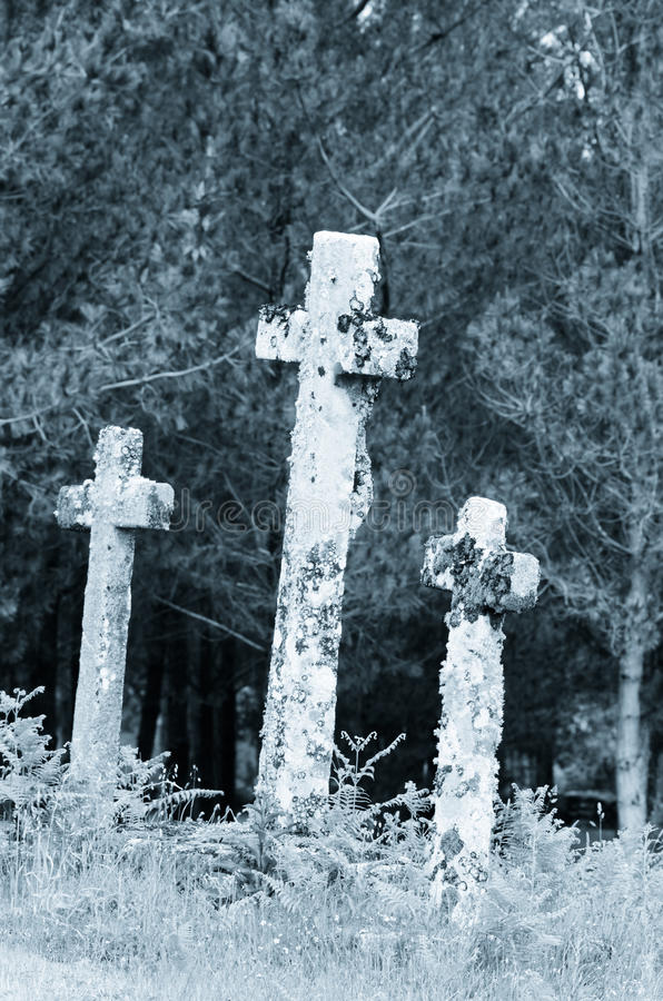 Three Crosses royalty free stock images