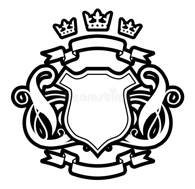 Three crowns. Vector, three crowns, abstract, vintage, tattoo