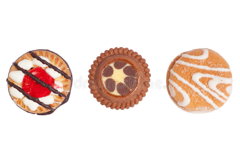 Three Crunchy Biscuits royalty free stock image