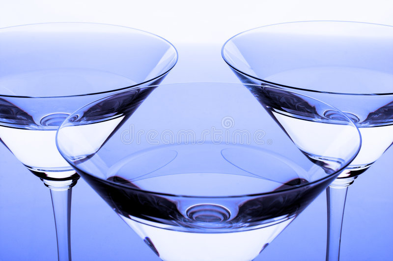 Three crystal glasses royalty free stock photos