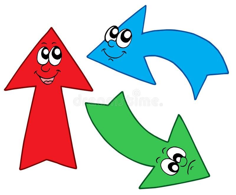 Three cute arrows royalty free illustration