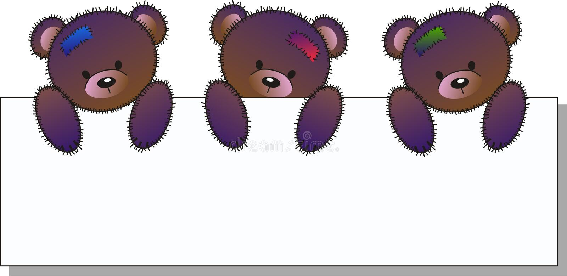 Three cute bears stock illustration