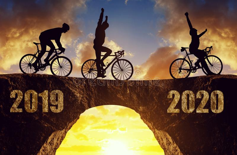 Forward to the New Year 2020. stock images