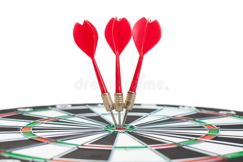 Download Three Darts Hit Dead Centre Of Target Stock Image - Image: 21367757