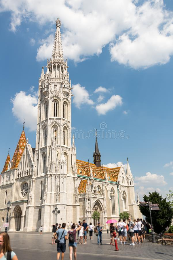 Matthias Church in Hungary and Budapest. Three Days in Hungary and Budapest, at Central Europe royalty free stock image
