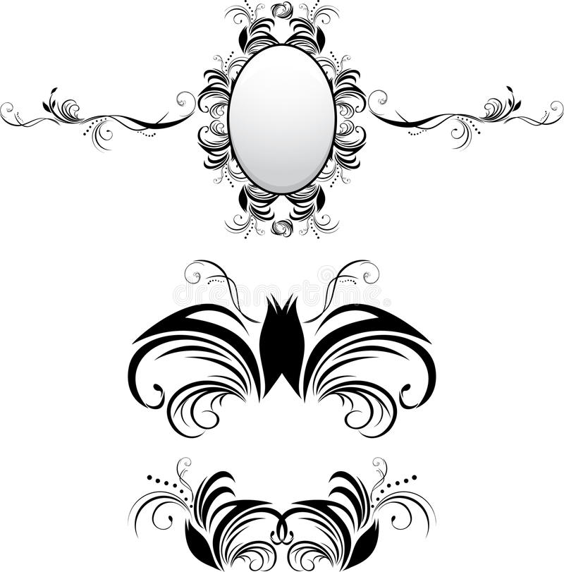 Download Three Decorative Elements For Decor Stock Vector - Image: 16107112