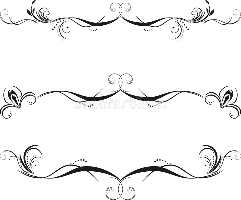 Download Three Decorative Floral Borders Stock Vector - Image: 15794265
