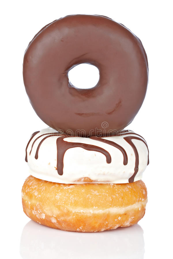 Download Three delicious donuts stock image. Image of sugary, good - 13170197