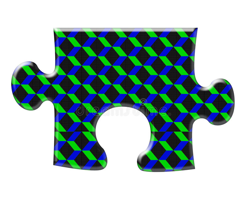 Download Three diamensional puzzle stock illustration. Image of diamension - 6935529