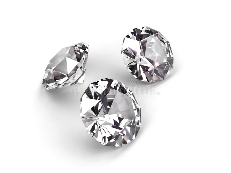 Download Three Diamonds Royalty Free Stock Photos - Image: 3820358