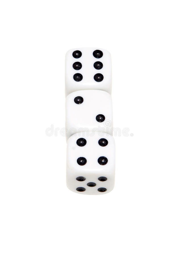 Download Three dice stock image. Image of lose, luck, money, loss - 11570023
