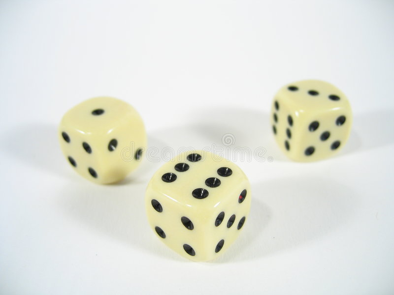 Download Three Dice stock image. Image of green, game, gambling, luck - 17489