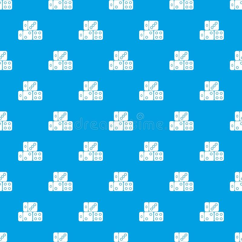 Free Three Dice Cubes Pattern Seamless Blue Royalty Free Stock Image - 98051826