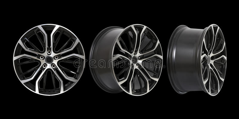 Three Different Angles Rims Stock Photos