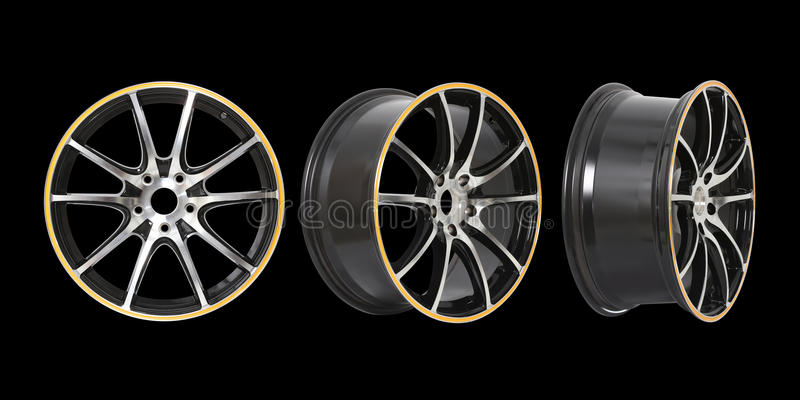 Download Three Different Angles Rims Royalty Free Stock Image - Image: 35311616