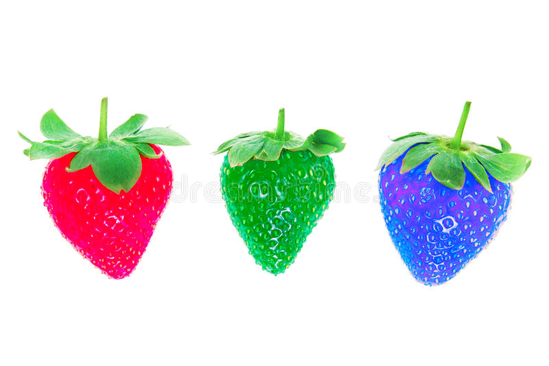 Download Three Different Colors Of Strawberries. Stock Image - Image: 25457303