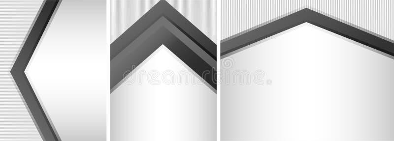 Three different design of paper vector illustration