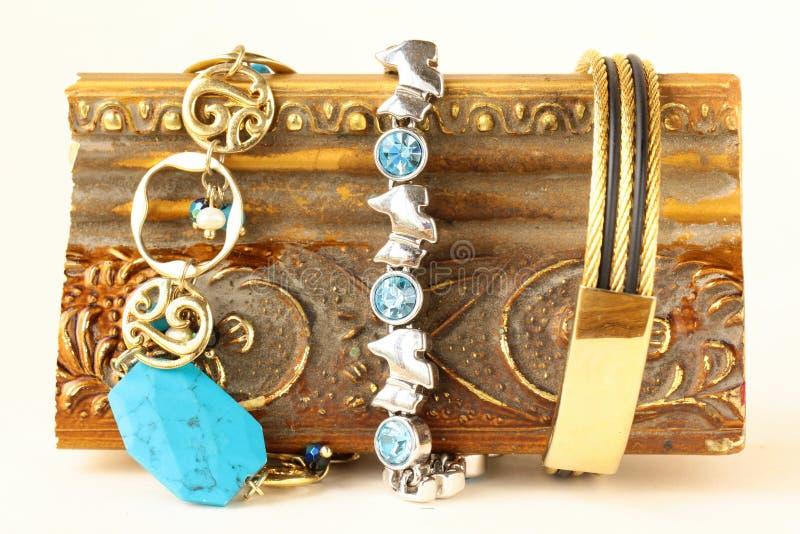 Three Different Precious Bracelets Royalty Free Stock Image