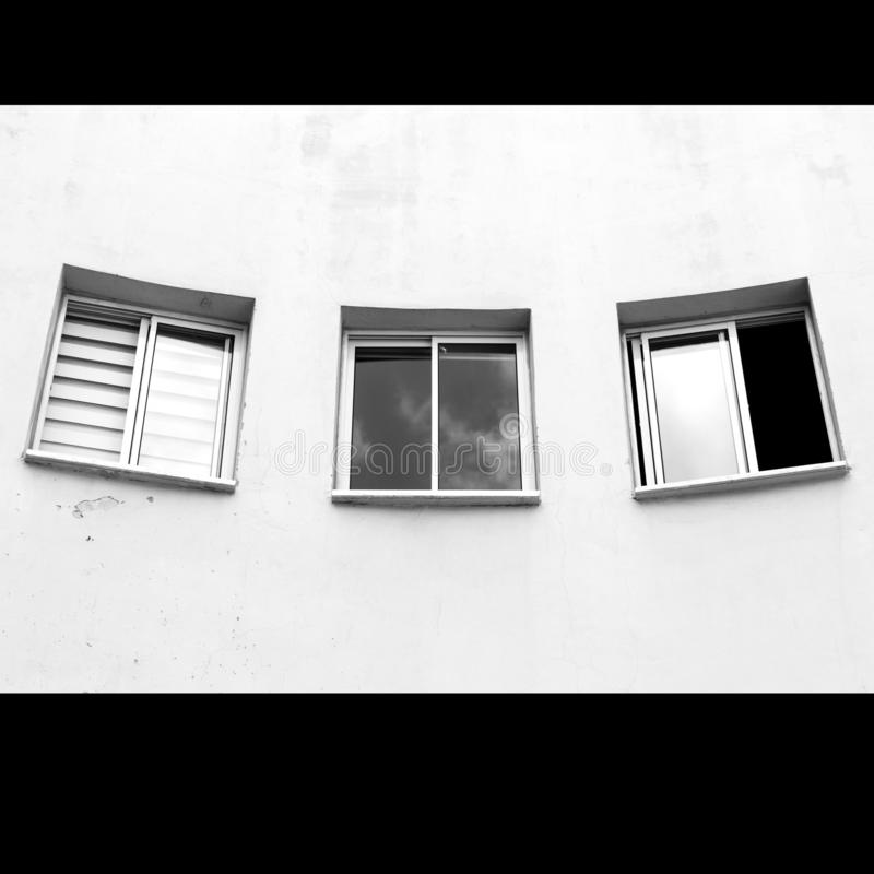 Three different Windows on white background royalty free stock image