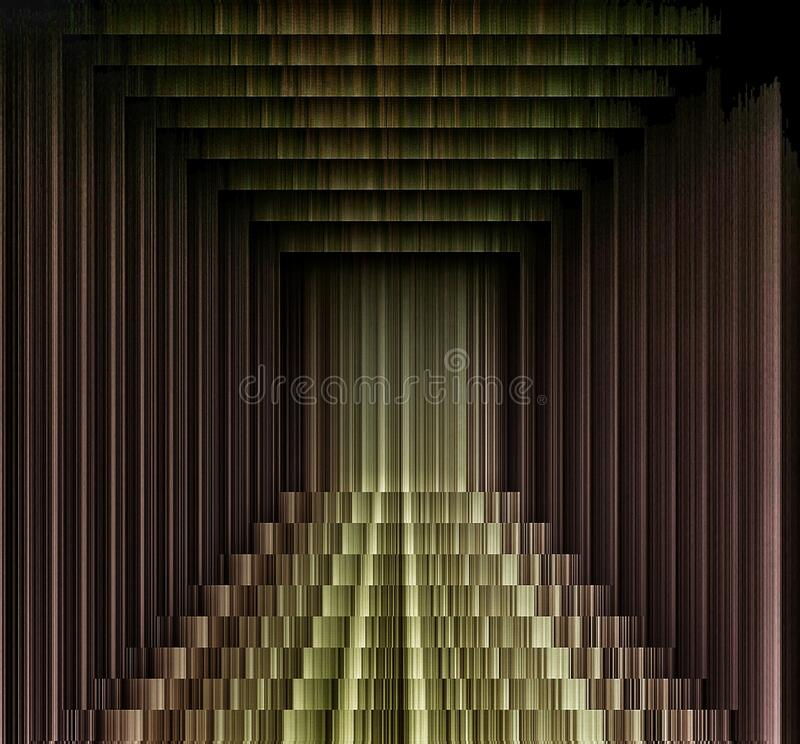 Three dimensional art and dark colors illusion of gold and Brown vector illustration
