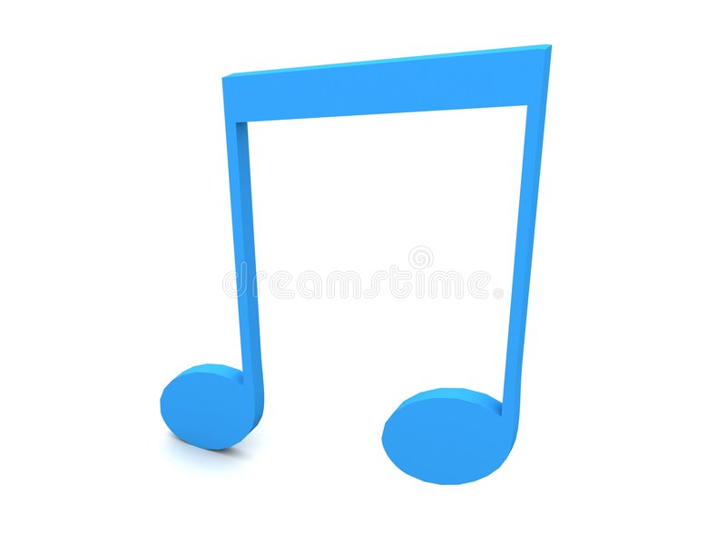 Download Three Dimensional Blue Musical Note Stock Illustration - Illustration: 8408162