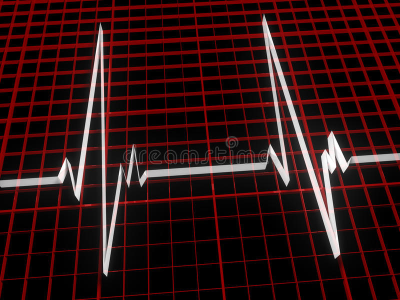 Download Three Dimensional Cardiogram Stock Illustration - Illustration of life, medicine: 17925383