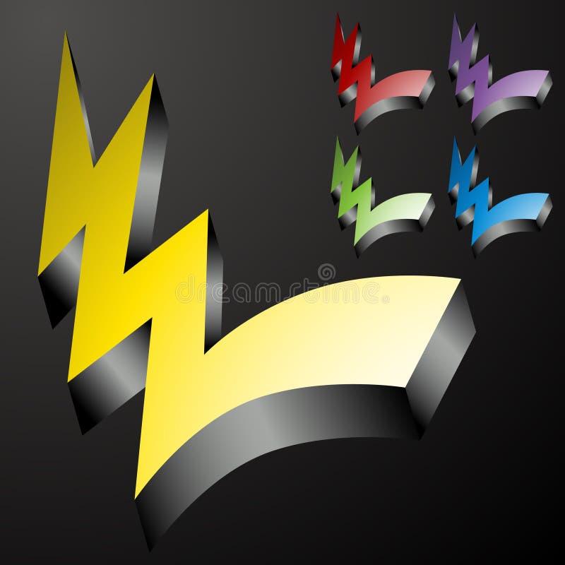 Free Three Dimensional Checkmark Lightning Bolts Stock Photo - 16425120