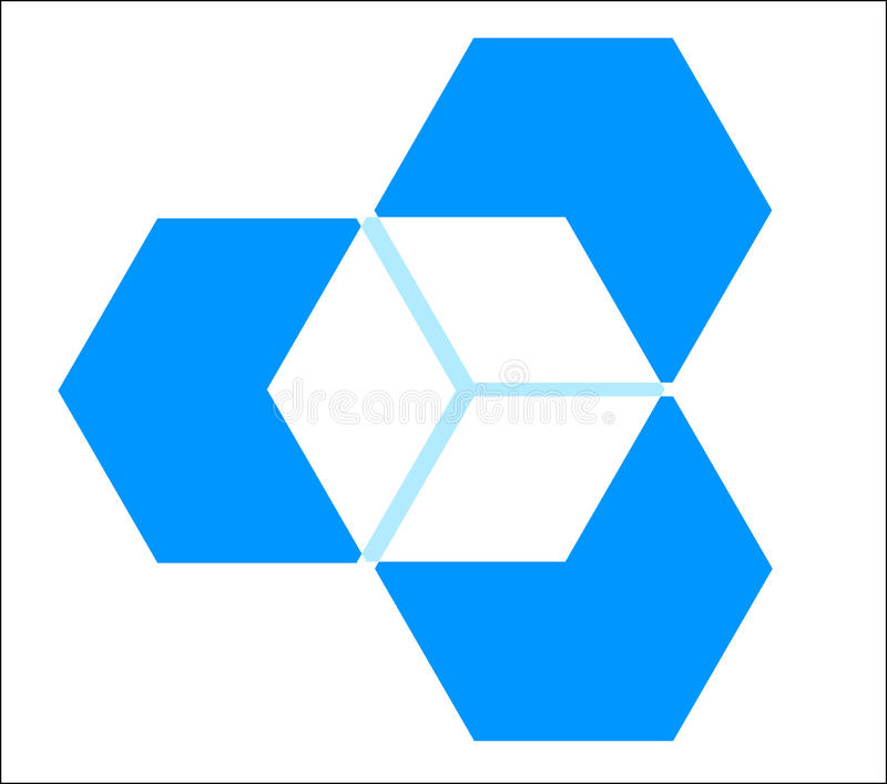 Three dimensional cube stock illustration