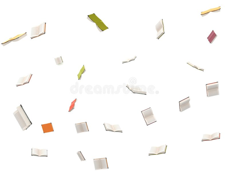Three dimensional flying open books