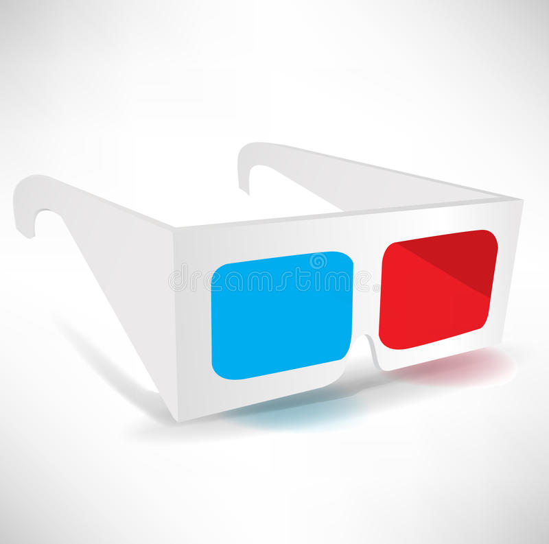 Three Dimensional Glasses Royalty Free Stock Images