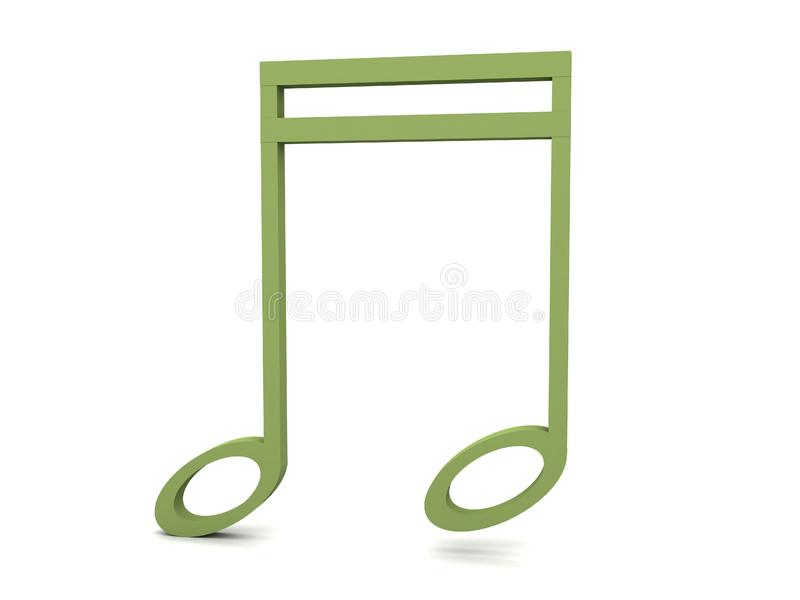 Download Three Dimensional Green Clef Notation Stock Illustration - Illustration: 8473648