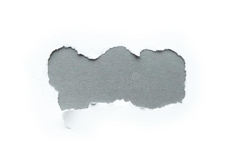 A three-dimensional hole in a white background, space for text on a gray background.  stock images