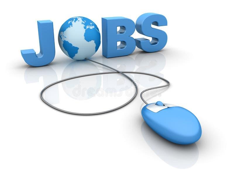 Internet Jobs stock illustration