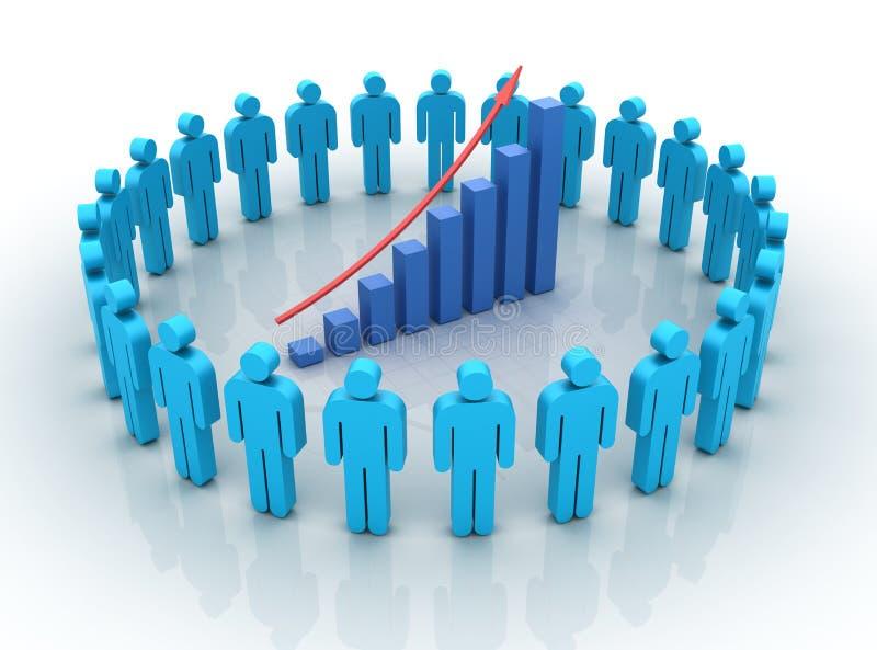 Teamwork Chart Rise vector illustration