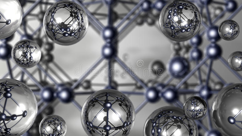 Three-dimensional images of silver crystal royalty free stock image