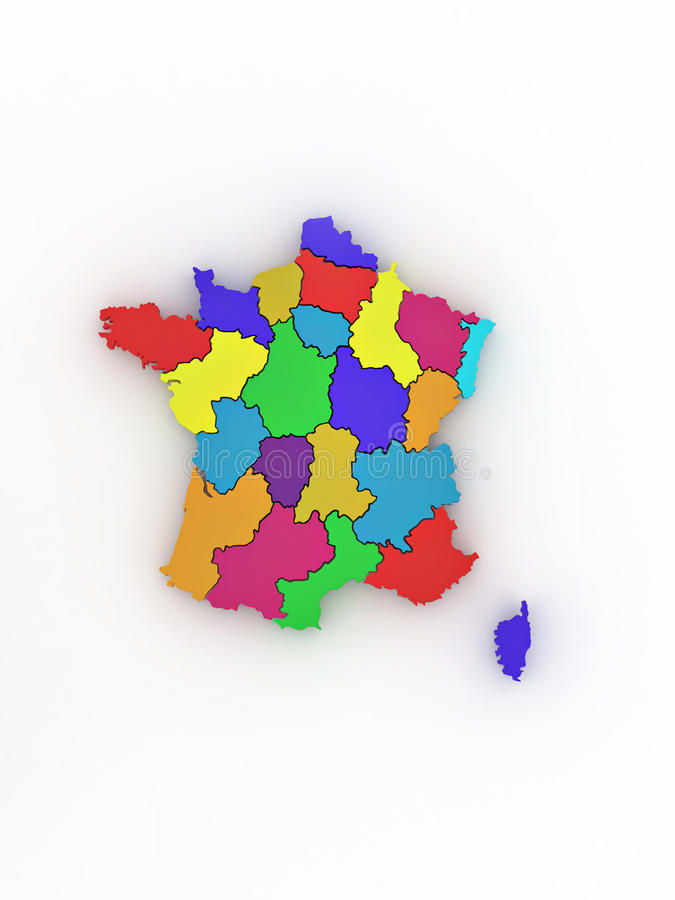 Download Three-dimensional Map Of France Stock Photography - Image: 17481532