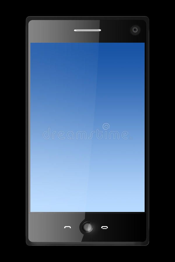 Three Dimensional Mobile Phone Isolated On Black Stock Photo
