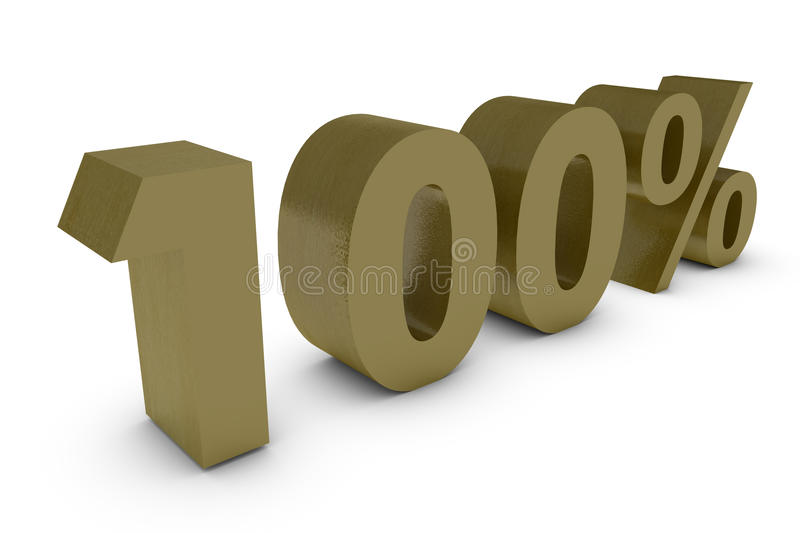 Download Three Dimensional Percent In Gold Stock Illustration - Image: 11562597