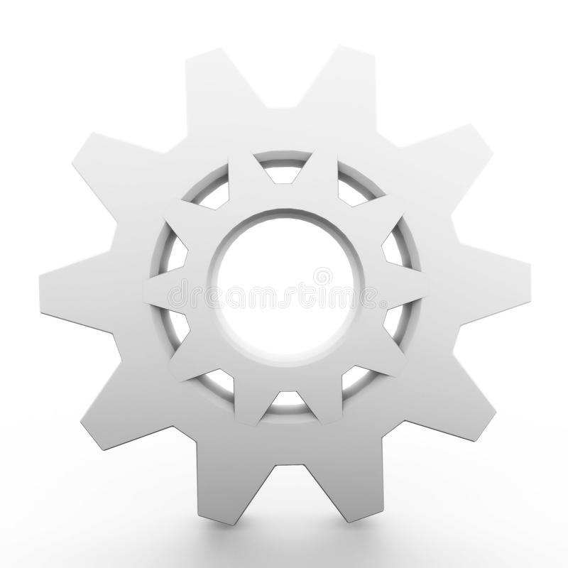 Three-dimensional pinion icon stock images